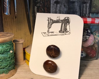 Retro leather buttons
