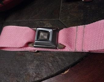 Pink Ford seat belt belt