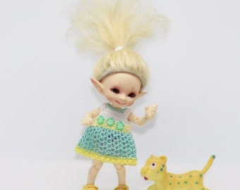 Knitting dress for Realpuki