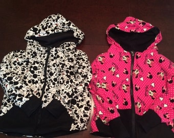 Mickey and Minnie Mouse Jackets-Fully Lined