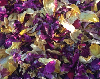 Dried rose petals, potpourri