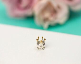 Charm for Charm Bracelet, Fits Pandora Charms, Silver Charms, Charm Bracelet, Christian Jewellery, Silver Charm, Crown Jewellery