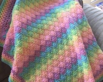 Gorgeous handmade baby blanket