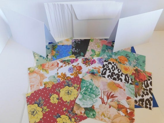 Diy paper die cut greeting card kit set of 10 base cards and like this item m4hsunfo