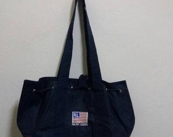 Vintage tote bag polo sport RL US flag /polo rl/ralphlauren/polo bag