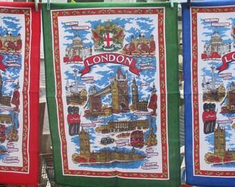 London Souvenir Tea Towels - Set of Three