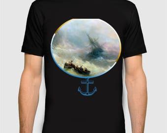 Sea art t-shirt, Ocean print