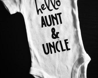 Hello Aunt & Uncle Onesie