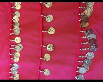 Pink and Silver Belly Dancing Belt