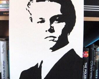 Leonardo DiCaprio stencil