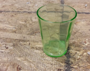 Vintage Vaseline Glass Shot Glass