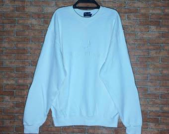 Rare!!! Vintage FRED PERRY embroidery Sweatshirt Crewneck Pullover Jacket Japan