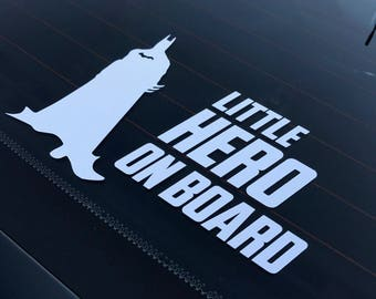 White OR Black Silhouette Superhero Car Sticker