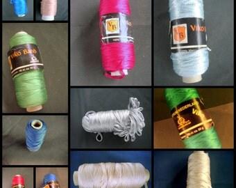 """Ribbon yarn effect yarn rayon """"Vikoband"""" bright yellow Wolcentrum vintage"""