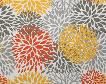 Outdoor Blooms Citrus Floral, Polyester, Fabric by the Yard