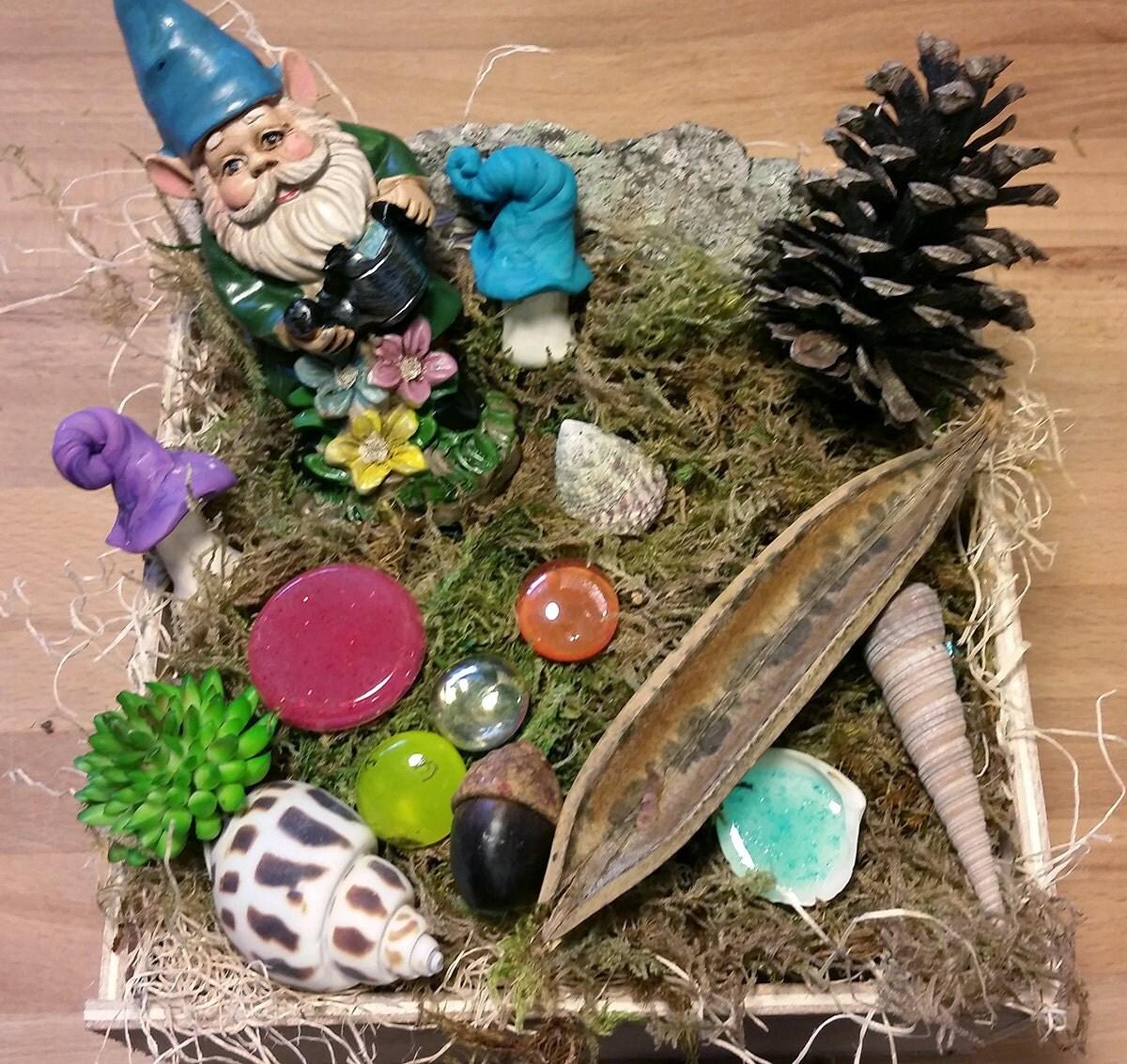 Gnome Garden: Garden Gnome Miniature Gnome Gnome Kit Fairy Garden Kit