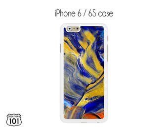 Marble iPhone Case, iPhone 6/6S Case, Blue iPhone Case, Yellow iPhone 6 Case, iPhone 6S Case, IPC1027