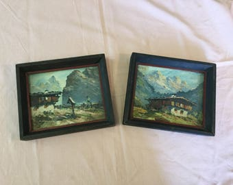 Rolf Schey set of 2 paintings