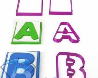 Alphabet Block Font Fondant Cookie Cutter 3cm 5cm 7cm