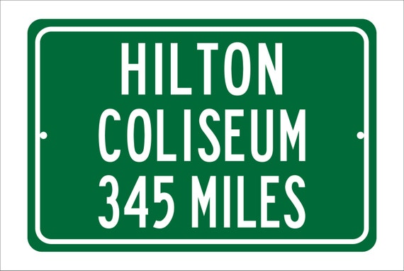 Custom College Highway Distance Sign to Hilton Coliseum | Home of the Iowa State Cyclones | Cyclones Basketball | I State Cyclones |