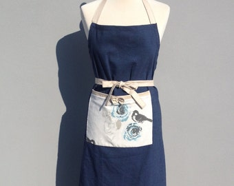 handmade one off retro style apron