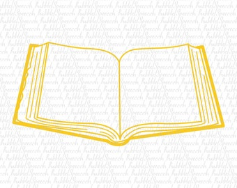Open Book Svg kids clip art, vector by SpeecchBubble