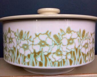 Hornsea Fleur Pottery Round Lidded Casserole Dish