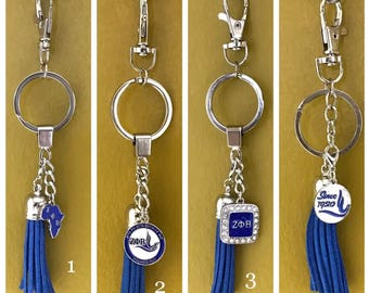 Zeta Phi Beta Key Ring 7 To Choose From