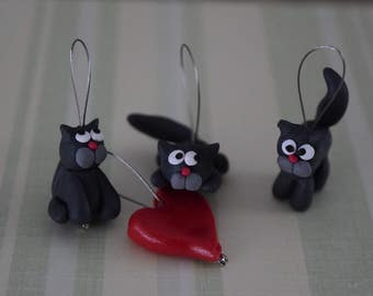 Knitting stitch markers: Cats lovers!