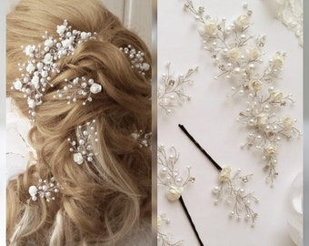 Free shipping!! Flower Hair vine Long hair vine,Bridal hair vine,Spring Bridal Wedding, Bridal Hair Vine,Wedding hair-vine,hair pins