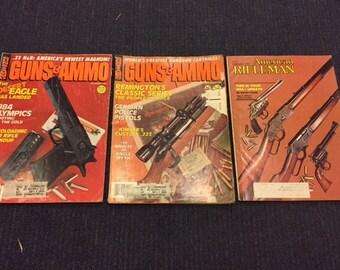 Vintage 1980's Gun Magazines