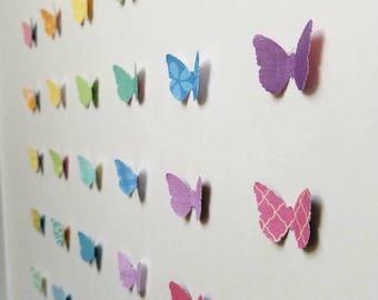 3D Rainbow Paper Butterfly Art