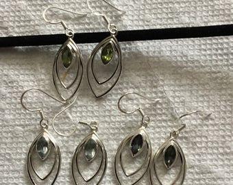 Mystic topaz and gemstones Sterling silver earrings