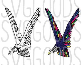 Eagle svg, Patriotic svg, Memorial Day svg, Fourth of July svg, July 4th svg, July 4 svg, bird svg, bald eagle SVG, cut file, svg file