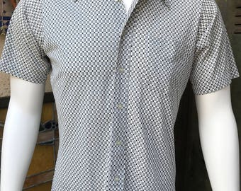 Now Breed by Campus 70's Disco Shirt/ Disco Polyester Nylon Blend Men's Shirt/ Made in Hong Kong