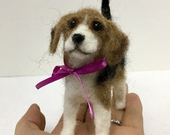 Needle Felted Beagle Puppy
