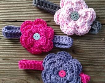 Crochet Baby Newborn Flower Headband Accessory Girl  Shower Gift