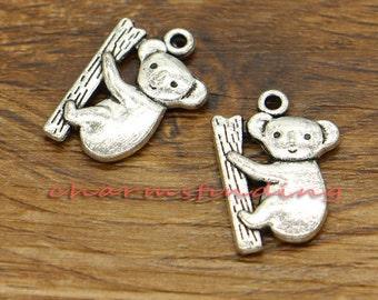 20pcs Koala Charms Koala Bear Charms Antique Silver Tone 19x14mm cf0225
