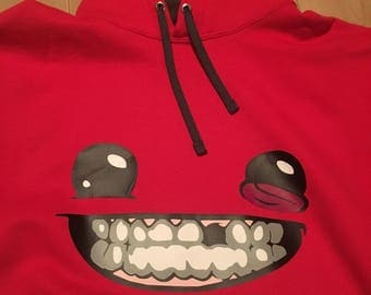 Super Meat Boy Red Hoodie