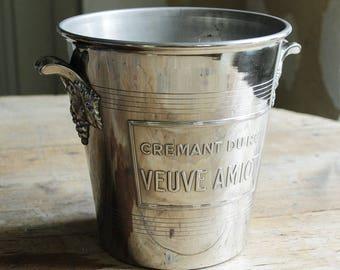 Vintage champagne bucket VEUVE AMIOT Cremant Du Roi
