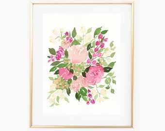 Spring Bouquet - Original Watercolor 8x10