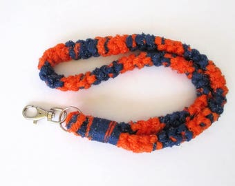 Crochet Lanyard Blue/Orange (FL Gators)