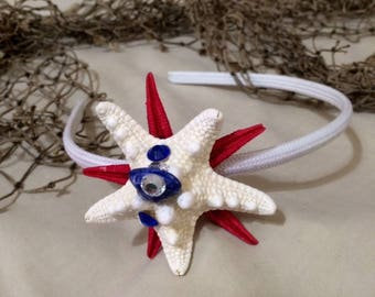 Patriotic starfish headband