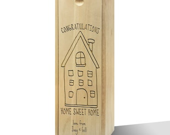 Personalised Dream House Wooden Wine Box