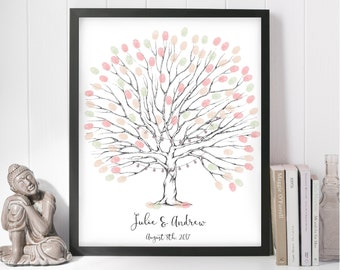 fingerprint tree, wedding tree, guest book, finger print tree, wedding tree printable, fingerprint tree printable, fingerprint guest book
