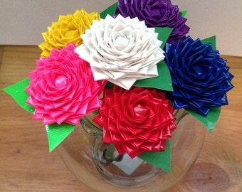 Duct Tape  Rose Flower Pen