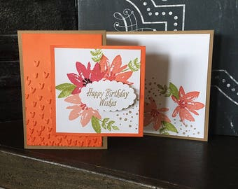 Floral Birthday Card // Handmade Card