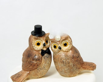 Barn owl wedding cake topper, owl wedding cake topper, bird wedding cake topper, animal wedding cake topper, handmade wedding cake topper