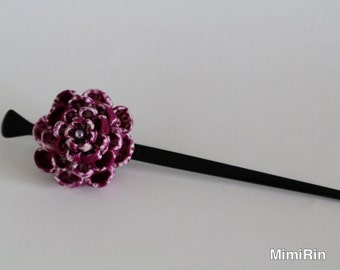 Japanese-style hair accessories knob insert the hairpin one hairpin thumb crafted purple flower hair accessories