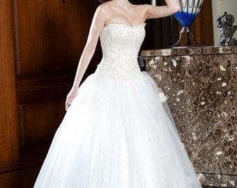 Corset wedding dress | Etsy